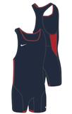 Men's Nike Weightlifting Singlet - Navy/Red