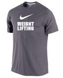 Nike Men's Dri-Fit Weightlifting Shirt - Dark Grey / White