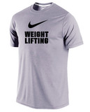Men's Dri-Fit Nike Weightlifting Shirt - Heather Grey / Black