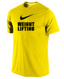 Men's Dri-Fit Nike Weightlifting Shirt - Yellow / Black