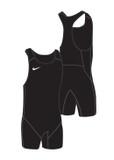 New! Men's Weightlifting Singlet - Black / Black