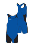 New! Women's Weightlifting Singlet - Royal / Black