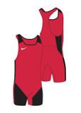 New! Women's Weightlifting Singlet - Scarlet / Black