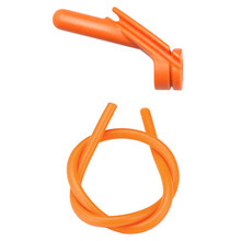"Nitro Peep Sight 1/4"" With Premium Silicone Tubing - Orange"