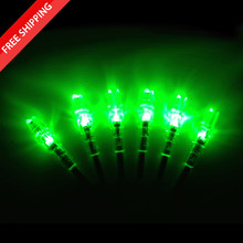6 Lighted S Nocks - GREEN