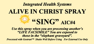 Alive in Christ SING Spray 8 oz