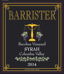 2014 Syrah, Bacchus Vineyard