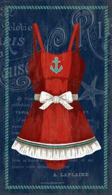 The Red Anchor Swimsuit Custom Art