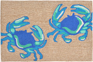 Two Blue Crabs Area Rug