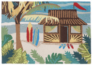 Aloha Tiki Hut Door Mat