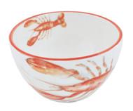 Orange Lobster Dessert Bowls - Set of 6