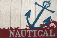 Nautical Anchor Small Accent Rug