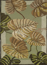 Philodendron Leaves Rug