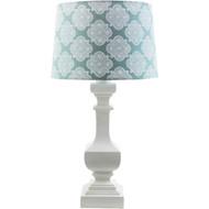 Carolina Coastal Cottage Lamp - Aqua Blue Shade