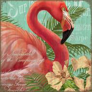 Tropical Resort Flamingo Art