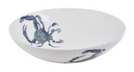 Blue Crab Large Round Serving Bowl