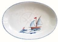 Sailboat Large Oval Serving Platter