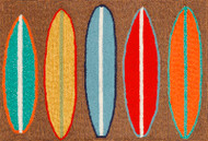 Surfboard  Accent Area Rug