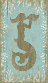 Aqua Mermaid Wall Decor from Suzanne Nicoll