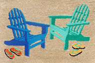 Seaside Adirondack Chairs Door Mat