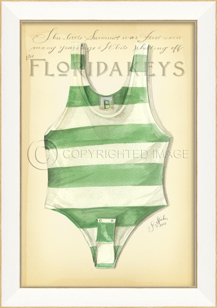 Vintage Swimsuit Art Florida Keys