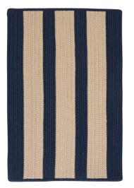 Boathouse Stripes - Navy Blue Area Rug
