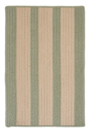 Boathouse Stripes Area Rug - Olive Green