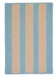 Boathouse Stripes - Light Blue Area Rug