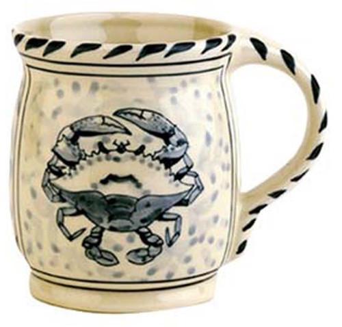 Blue Crab Mugs Set Of 4
