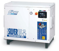FIAC Silver 15/500 Rotary Screw Air Compressor, 15 hp, 55 CFM, 130 Gallon Tank Mounted, 208/240/460