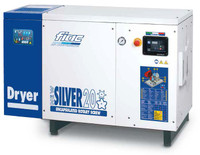 FIAC Silver 20/500 Rotary Screw Air Compressor, 20 hp, 70.9 CFM, 130 Gallon Tank Mounted, 208/240/460