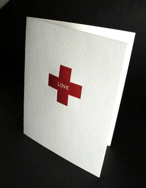 LOVE Emeregency - Letterpress Love Card