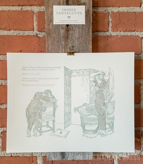 Meat & 3 Printing co - art+work 11x14