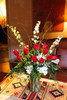 One Dozen premium long stem red roses in a cylinder glass vase - 3+ Feet tall  + personal delivery in Santa Fe