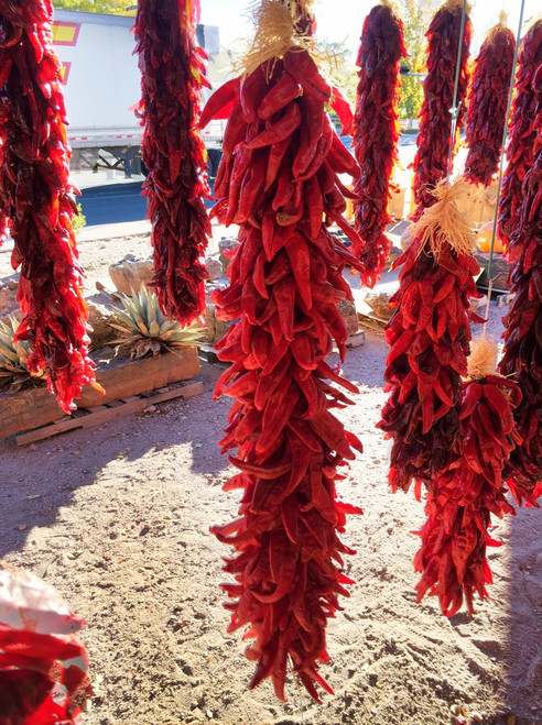Authentic hand made red chile ristra - 3 foot + or longer length