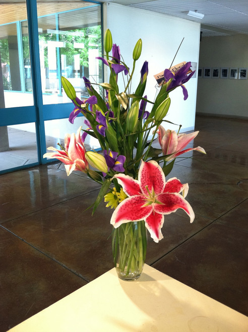 Lily and iris bouquet
