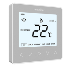 Heatmiser neoStat 12v - Programmable Thermostat - Platinum Silver