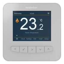 Heatmiser SmartStat WiFi Thermostat - Platinum Silver