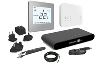 Heatmiser Smart Thermostat Kit - neoAir Kit Gen 1 Platinum Silver