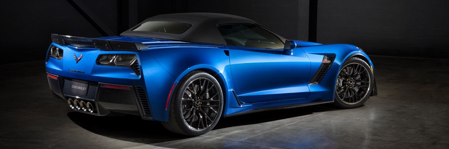 C7 Z06 Blue Corvette