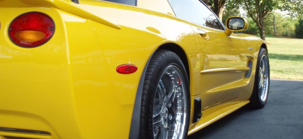 Yellow C5 Corvette