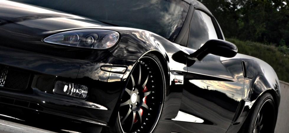 C6 Black Corvette
