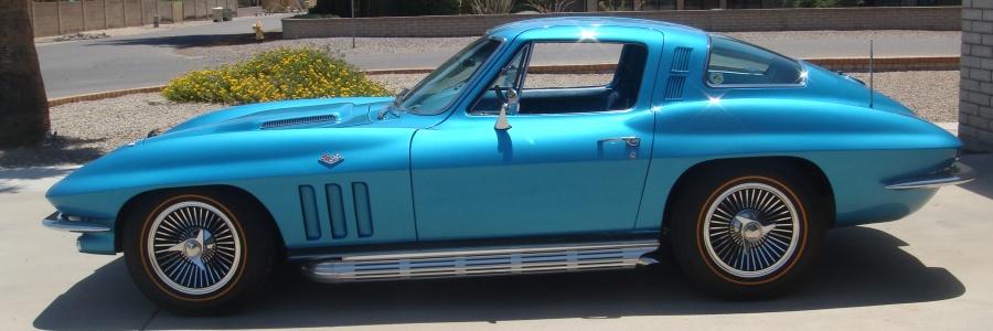 C2 Marina Blue Corvette