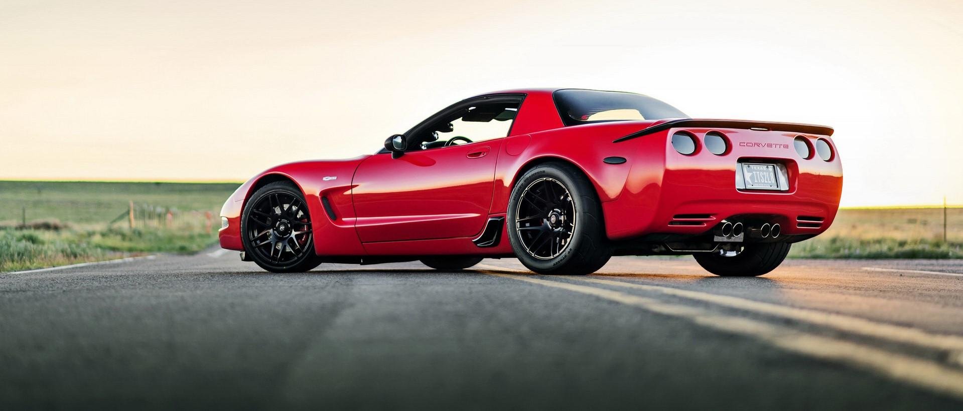 Red C5 Corvette