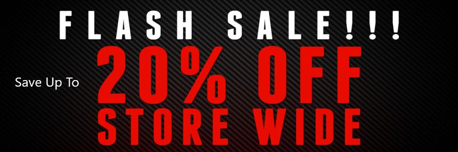 Flash Sale Save Up to 20% Storewide