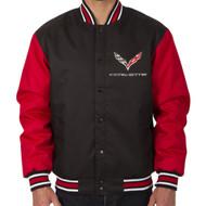C7 Corvette Varsity Style Jacket - Black/Red Sleeve Option