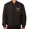 C7 Corvette Wool Varsity Jacket - Charcoal/Black Reverse