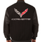 C7 Corvette Wool Varsity Jacket - Black/Black Sleeve Option back