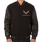 C7 Corvette Wool Varsity Jacket - Black/Black Sleeve Option