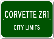 Corvette ZR1 City Limits Sign
